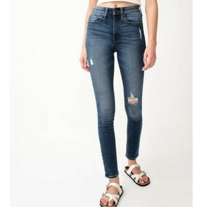 Aeropostale Premium High Rise Distressed Jegging